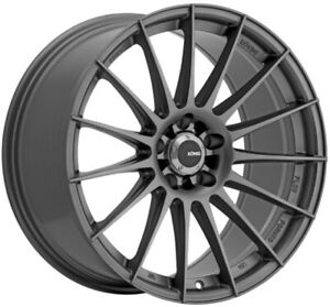 19x8 5 Konig Rennform 5x120 35 Matte Grey Wheels Set Of 4
