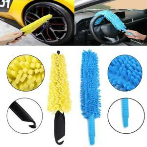 Long Soft Flexible Microfiber Cleaning Brush Car Wash Tool Wheel Cleaner Brush