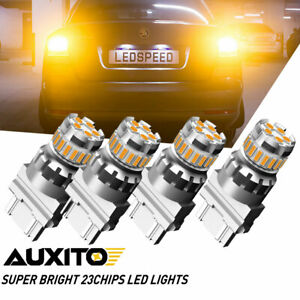 Auxito 4x 3457 3757 3157 Led Amber Yellow Turn Signal Parking Drl Light Bulbs F4