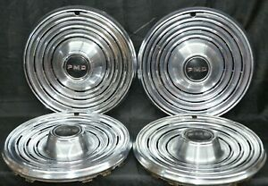 1969 Pontiac Star Chief Catalina Hubcaps Ventura Wheel Covers Pmd 15 Set Of 4
