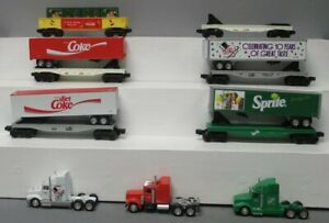 K-Line Coca-Cola Gondola and Flat Cars with Tractors and Trailers [13]