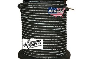 New 50ft R17 08 1 2 Sae 100r17 2 Wire Hydraulic Hose Free Shipping