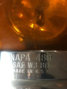 Vintage Napa Amber Revolving Light For Tow Truck Made In Usa By Re Dietz