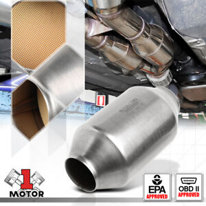 Universal 7 5 x 4 Weld on Stainless Steel Exhaust Catalytic Converter W 2 inlet