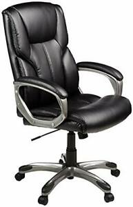 High back Leather Executive Swivel Adjustable Office Desk Chair With Casters