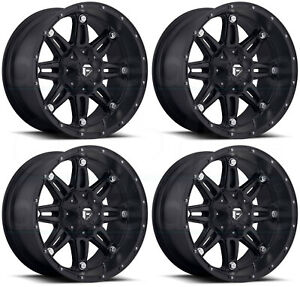 18x9 Fuel D531 Hostage 8x170 12 Matte Black Wheels Rims Set 4