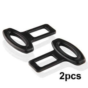 2 X Clasp Plug Car Seat Belt Extender Safe Buckle Clip Alarm Stopper Accessories