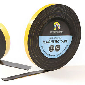 Magnetic Tape Self Adhesive Rolls Of 1 5mm Thick Flexible Sticky Magnet Strips