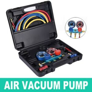 R1234yf Aluminum Manifold Gauge Set 1234 With Vacuum Pump Adapter 3105 Black