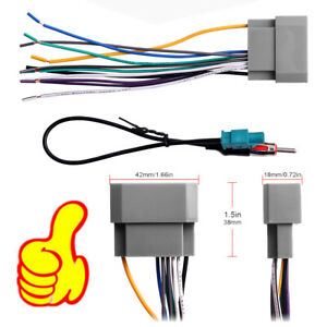 Car Stereo Radio Wiring Harness Antenna Adapter For Some Jeep Dodge Chrysler Usa