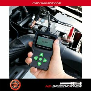 12v Lcd Vehicle Car Digital Battery Test Analyzer Detection Tool W clips Bt100