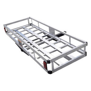 Universal Hitch Mount Cargo Carrier Rack Mounted Luggage Basket Aluminum 500lbs