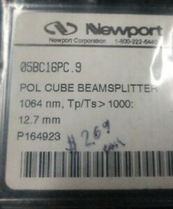 Nib Newport 05bc16pc 9 Pol Cube Beamsplitter 1064nm Tp ts 1000 12 7mm