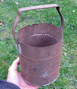 Primitive Antique Folk Art Metal Sifter Tool Country Rustic Farmhouse Decor