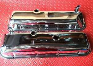 Valve Cover Set Big Block Chevy Triple Chrome Recessed End W Oil Drippers 95041