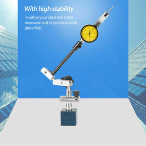 Magnetic Base Stand Adjustable yellow face Dial Test Indicator Gauge