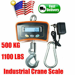 Digital Lcd Crane Scale Heavy Duty Industrial Hanging Weight Scale 500kg 1100lbs