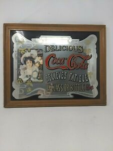 Vintage Coca Cola Mirror Sign