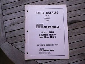 New Idea Farm Equipment 9100 Mounted Planter Row Units Parts Catalog Manual