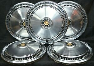 Chrysler Cordoba Hubcaps Oem Set Of 5 15 Wheel Covers 384 1975 1979 2549