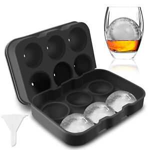 Nwhiskey Silicone Ice Cube Balls Maker Molds Sphere Party Tray Round Bar Cocktai