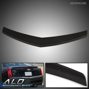 V Style Trunk Spoiler Black Abs Plastic Fit For 2013 2018 Cadillac Ats Sedan