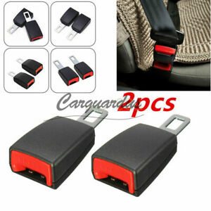 Car Safety Seat Belt Buckle Extension Extender Clip Alarm Stopper Universal 2pc