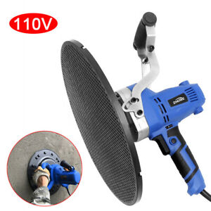 110v Cement Mortar Electric Trowel Wall Smoothing Polishing Machine Us Stock