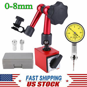 0 0 8mm Flexible Magnetic Metal Base Holder Stand With Dial Test Indicator Usa