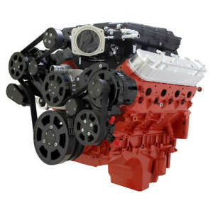 Cvf Chevy Ls Engine Whipple 2 9l Serpentine Kit W Alternator Ac Ps Black