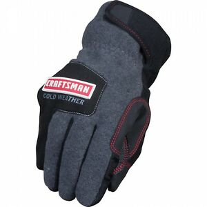 Craftsman Cold Weather Thinsulate Work Gloves Touch Screen Capable Large