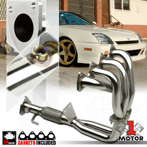 Stainless Steel Exhaust Header Manifold For 97 01 Prelude Non Sh 2 2 H22a4 Bb6