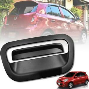 Rear Tailgate Handle Cover Black For Nissan Micra March K13 Hatchback 2010 2019