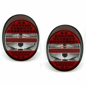 Vw Old Beetle Bug Clear Led Tail Lights Rear Lamps 1972 1996 Model