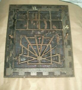 Art Deco Heat Air Grate Wall Register 10x12 Approx Wall Opening 12 X 14 Ovrall
