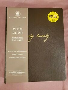 Gallery Leather Academic Weekly Planner 2020