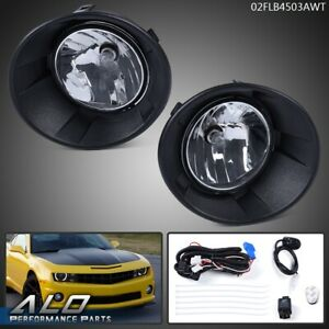 For 2010 2013 Chevy Camaro Clear Lens Pair Fog Lights Lamp Wiring Switch Kit Dot