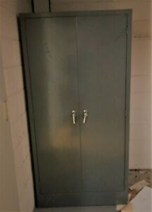 Metal Storage Cabinet With Doors And 4 Shelves 36 X 24 X 72