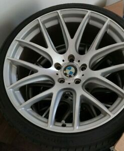 Four 20 Inch 9 5 Miro 111 Silver machined Finish 5x120 Bolt Pattern 18 Offset