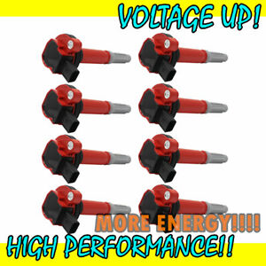 Uf622 Red Ignition Coil 8pcs Pack For 2011 2016 Ford F 150 Mustang 5 0l