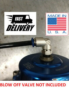 Tial Blow Off Valve Bov Boost Vacuum Push Connect Fitting Kit M10x1 0 1 8npt 9 S