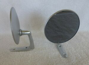2 Nos Vintage Classic Metal Sports Car Hot Rat Rod Side View Mirrors Ew Nice