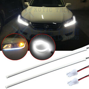 Daytime Running Light Auto Led Strip Eyebrow Light Car Headlight For Audi Style