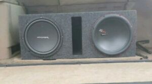 24 Inch Rims And Tires 2 12in Subwoofers
