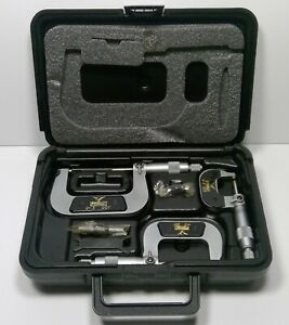 Fowler 0 3 Swiss Style Outside Inch Micrometer Set 52 254 103