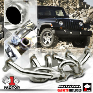 Stainless Steel Exhaust Header Manifold For 00 06 Jeep Wrangler Tj 4 0 Amc 242