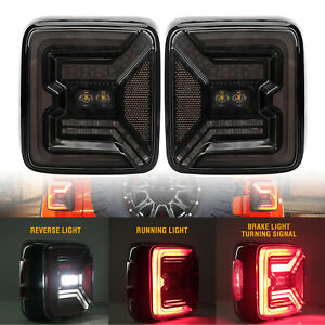 2020 New Led Tail Lights W Brake Reverse Turn Signal For Jeep Wrangler Jl 2018