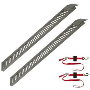 Snap Loc Truck Trailer Equipment Ramp 9 X72 2 Pack With 2 Safety Cam Straps