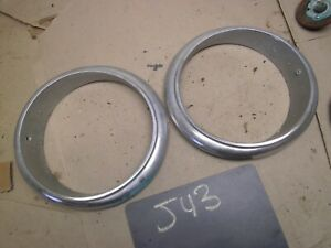 1959 1960 Studebaker Lark Headlight Bezel Trim Molding Ring Escutcheon Pair 1961