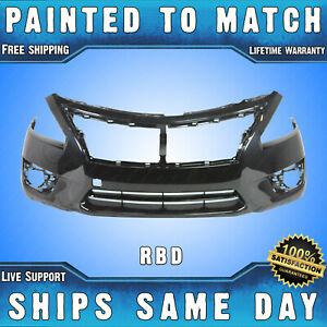 New Painted Rbd Storm Blue Front Bumper Cover For 2013 2014 2015 Nissan Altima
